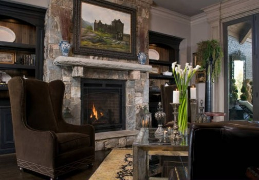 Raven Cliff Ashlar Fireplace